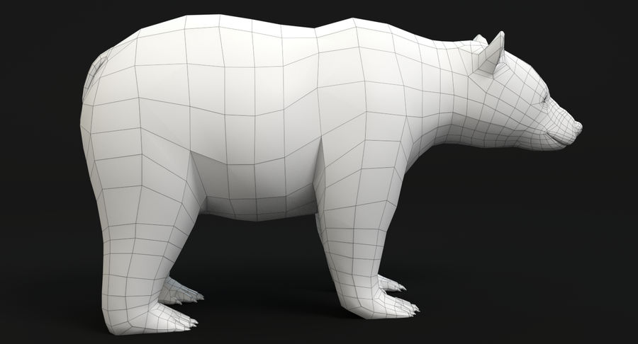 Black Bear royalty-free 3d model - Preview no. 12