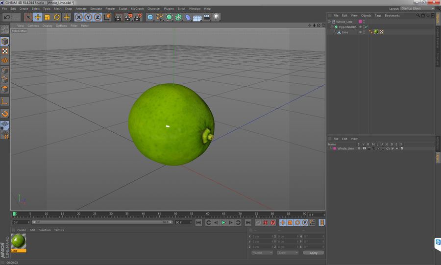 Whole Lime royalty-free 3d model - Preview no. 12