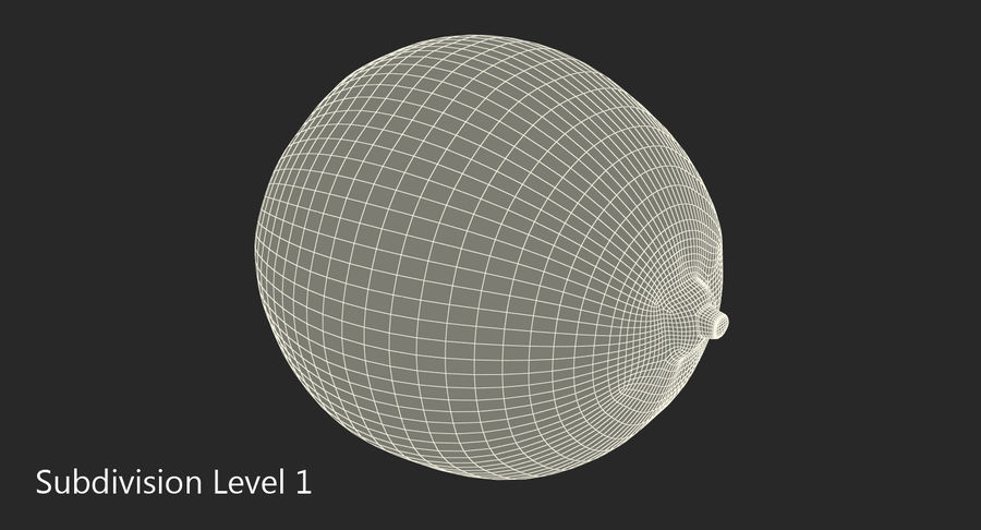 Whole Lime royalty-free 3d model - Preview no. 8
