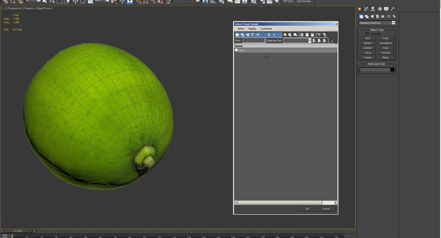 Whole Lime royalty-free 3d model - Preview no. 11
