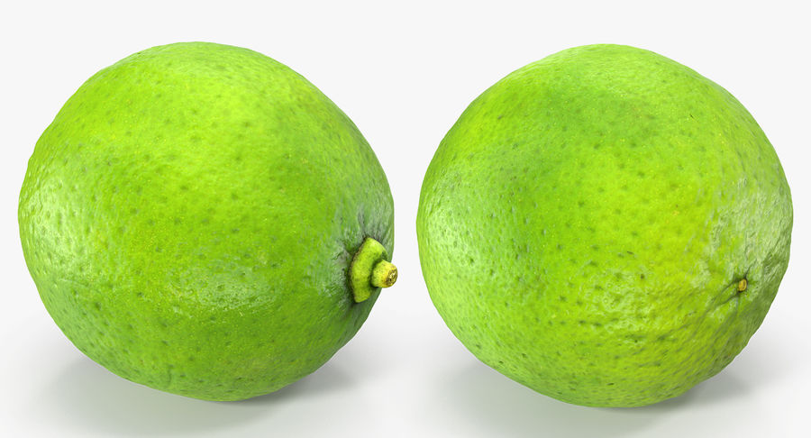 Whole Lime royalty-free 3d model - Preview no. 3