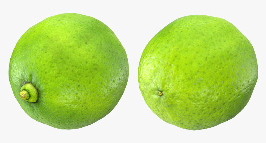 Whole Lime royalty-free 3d model - Preview no. 4