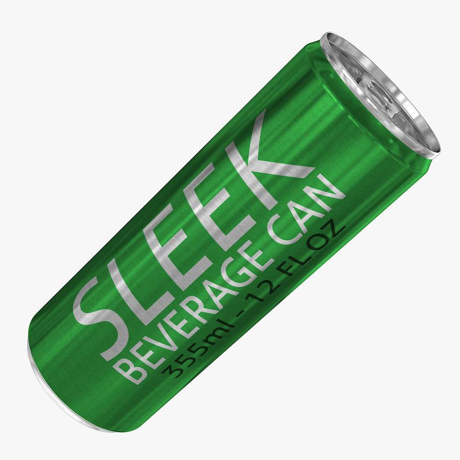 355ml 12oz Sleek Beverage Can royalty-free 3d model - Preview no. 1