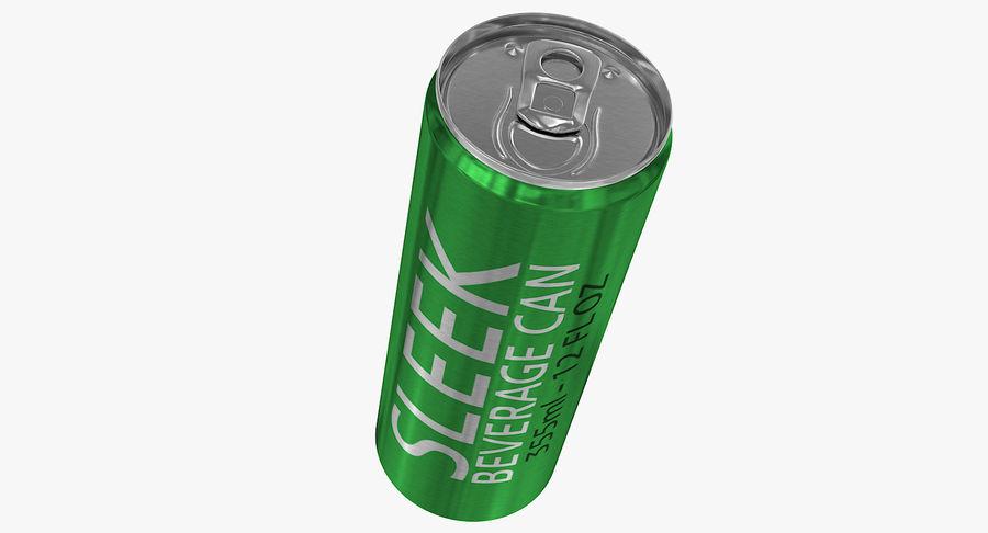 355ml 12oz Sleek Beverage Can royalty-free 3d model - Preview no. 7