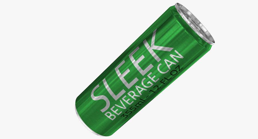 355ml 12oz Sleek Beverage Can royalty-free 3d model - Preview no. 2