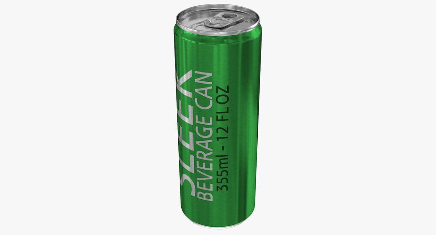 355ml 12oz Sleek Beverage Can royalty-free 3d model - Preview no. 5