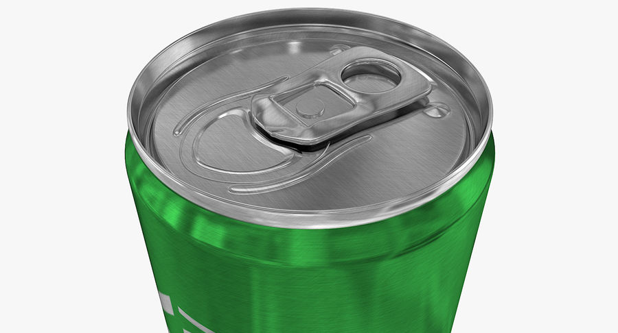 355ml 12oz Sleek Beverage Can royalty-free 3d model - Preview no. 6
