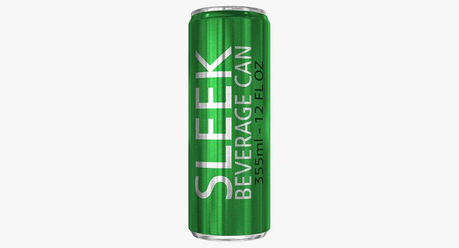 355ml 12oz Sleek Beverage Can royalty-free 3d model - Preview no. 4
