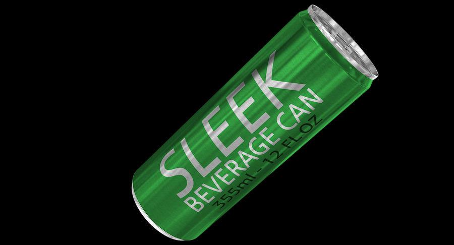 355ml 12oz Sleek Beverage Can royalty-free 3d model - Preview no. 3