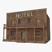 Western Building 7 (Low Poly) 3d model