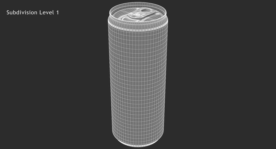 330ml 11.3oz Sleek Beverage Can royalty-free 3d model - Preview no. 15
