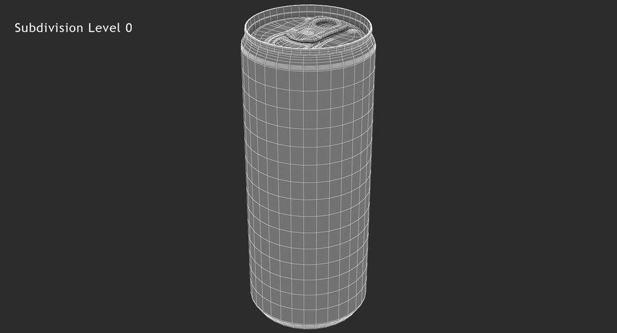 330ml 11.3oz Sleek Beverage Can royalty-free 3d model - Preview no. 14