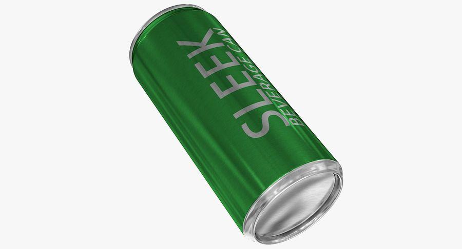 330ml 11.3oz Sleek Beverage Can royalty-free 3d model - Preview no. 9