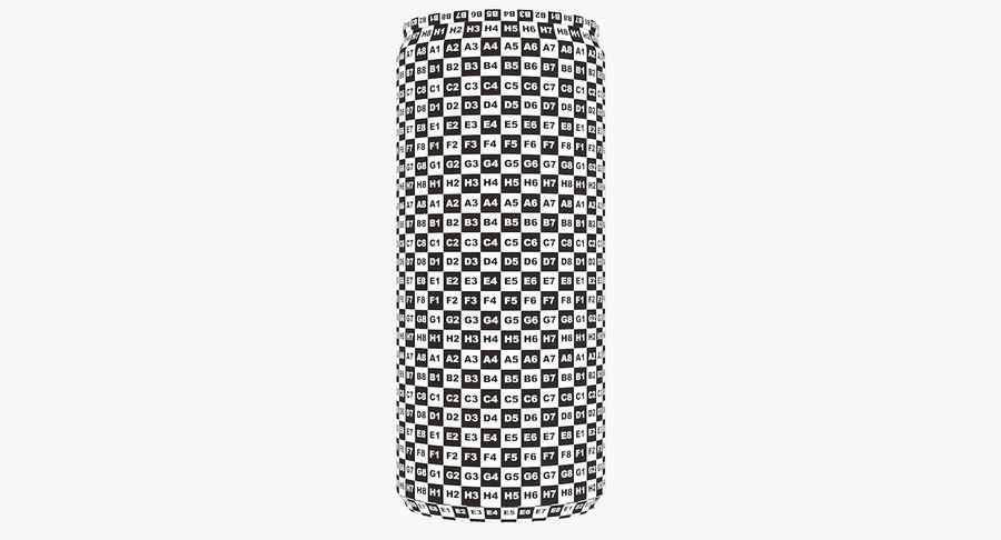 330ml 11.3oz Sleek Beverage Can royalty-free 3d model - Preview no. 21