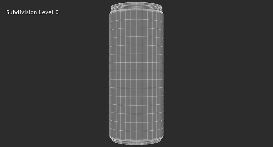 330ml 11.3oz Sleek Beverage Can royalty-free 3d model - Preview no. 12