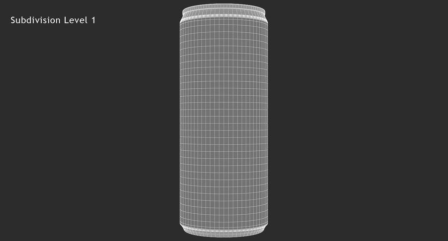 330ml 11.3oz Sleek Beverage Can royalty-free 3d model - Preview no. 13