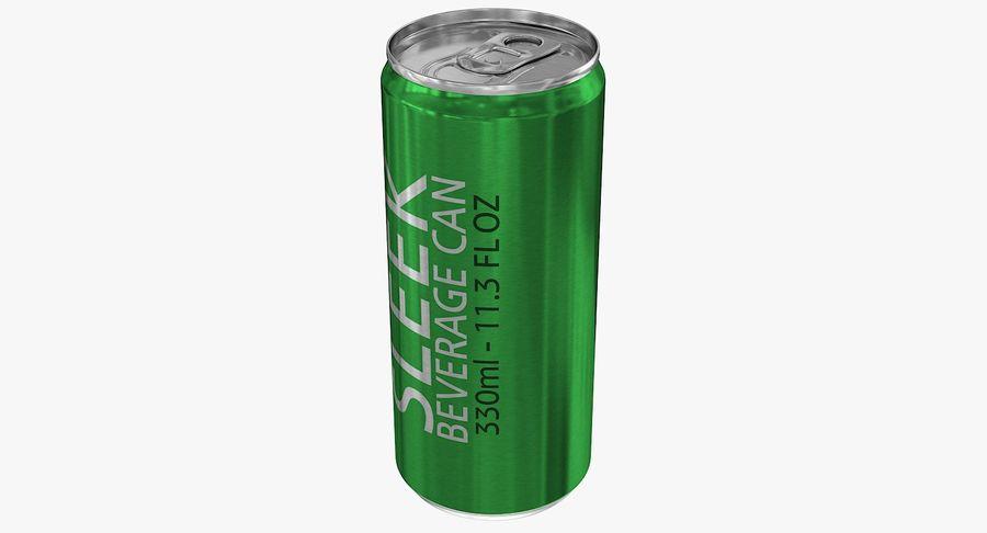 330ml 11.3oz Sleek Beverage Can royalty-free 3d model - Preview no. 5