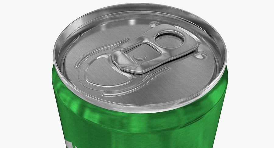 330ml 11.3oz Sleek Beverage Can royalty-free 3d model - Preview no. 6
