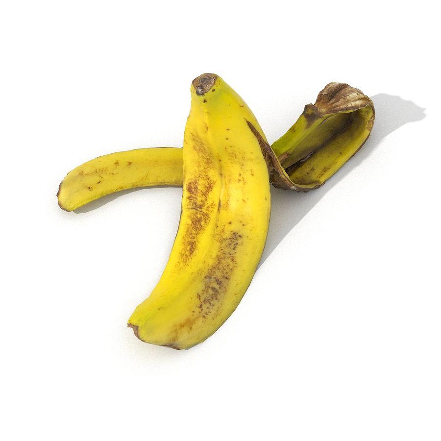 Banana Peel Realistic royalty-free 3d model - Preview no. 29