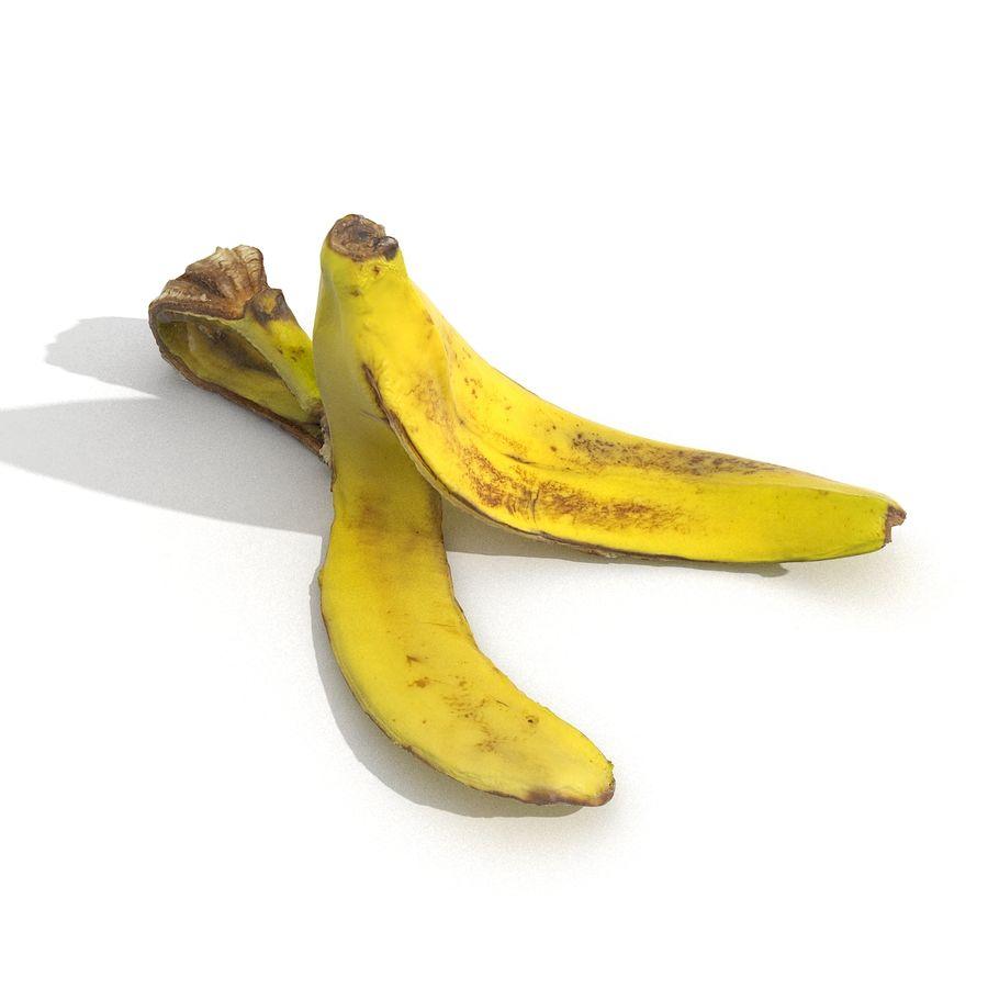 Banana Peel Realistic royalty-free 3d model - Preview no. 13