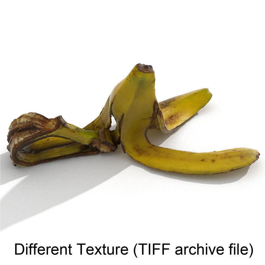 Banana Peel Realistic royalty-free 3d model - Preview no. 49