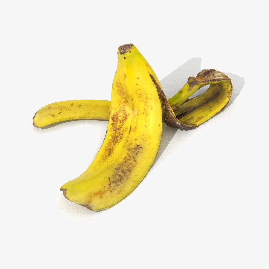 Banana Peel Realistic royalty-free 3d model - Preview no. 1