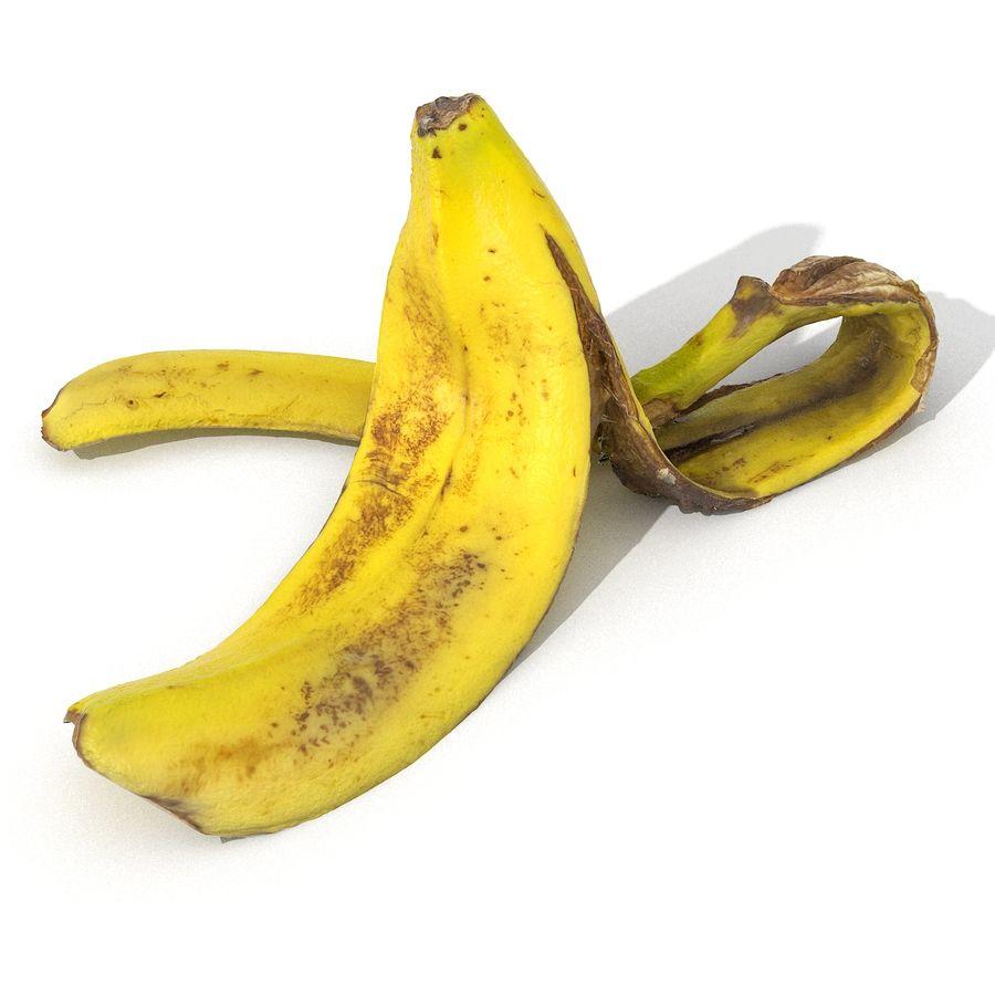 Banana Peel Realistic royalty-free 3d model - Preview no. 5