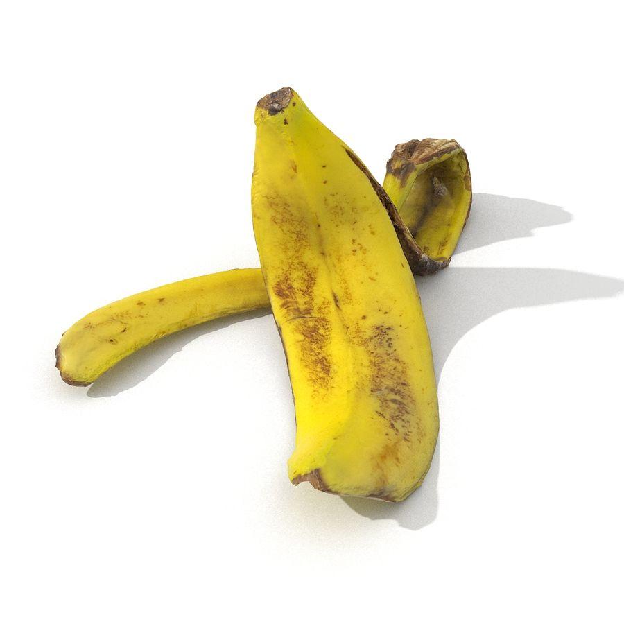 Banana Peel Realistic royalty-free 3d model - Preview no. 17