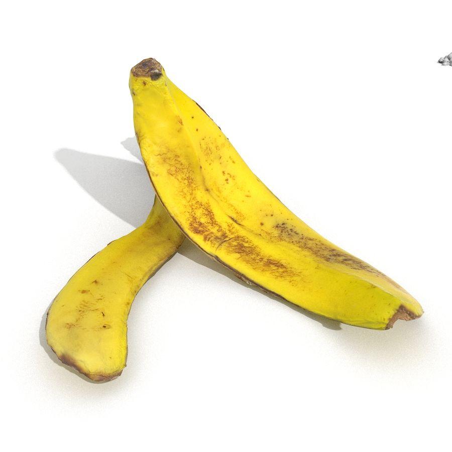 Banana Peel Realistic royalty-free 3d model - Preview no. 8