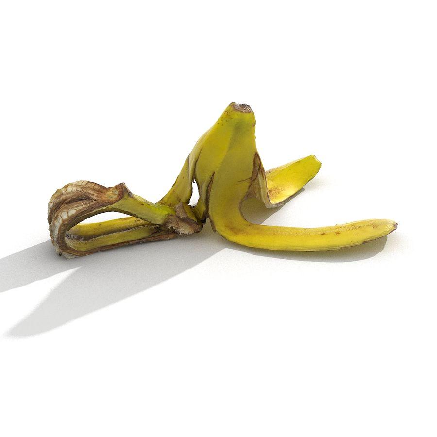 Banana Peel Realistic royalty-free 3d model - Preview no. 20