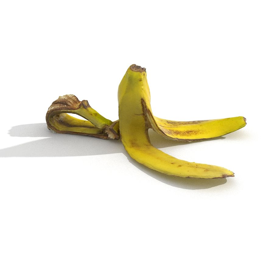 Banana Peel Realistic royalty-free 3d model - Preview no. 12