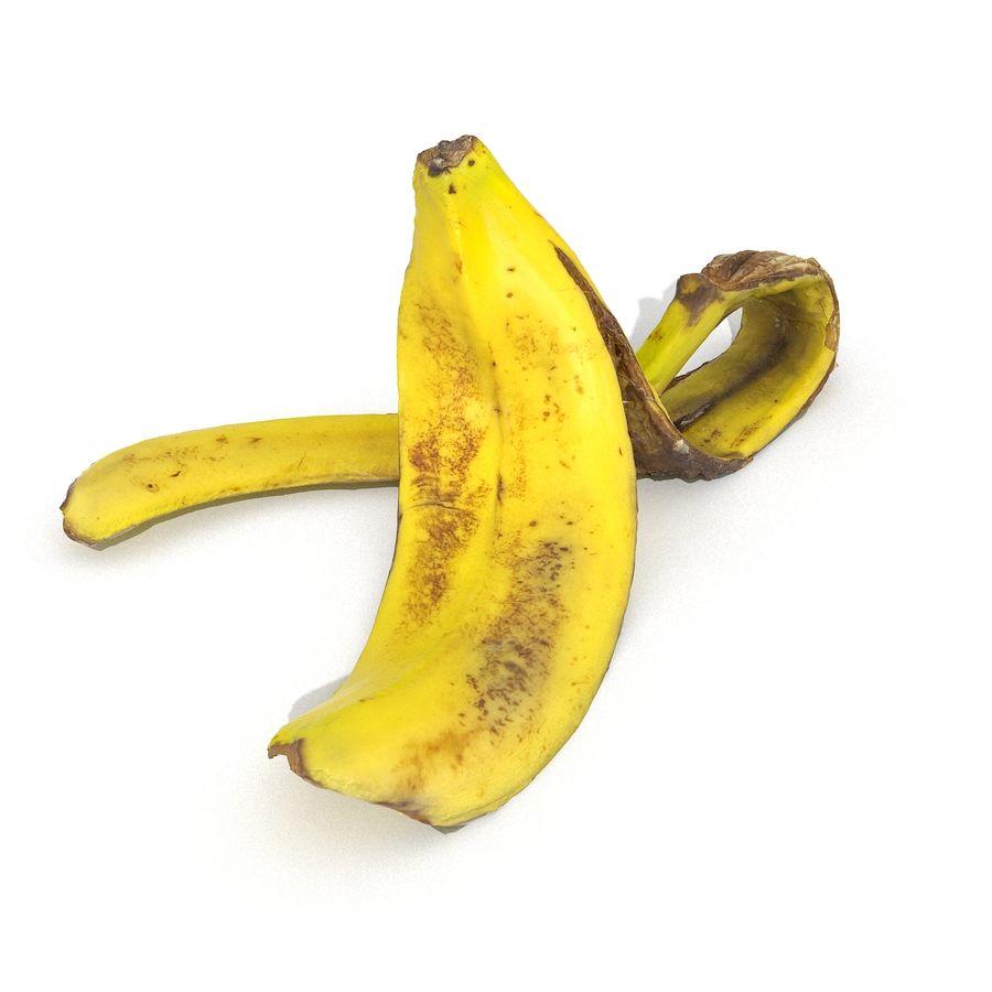 Banana Peel Realistic royalty-free 3d model - Preview no. 25