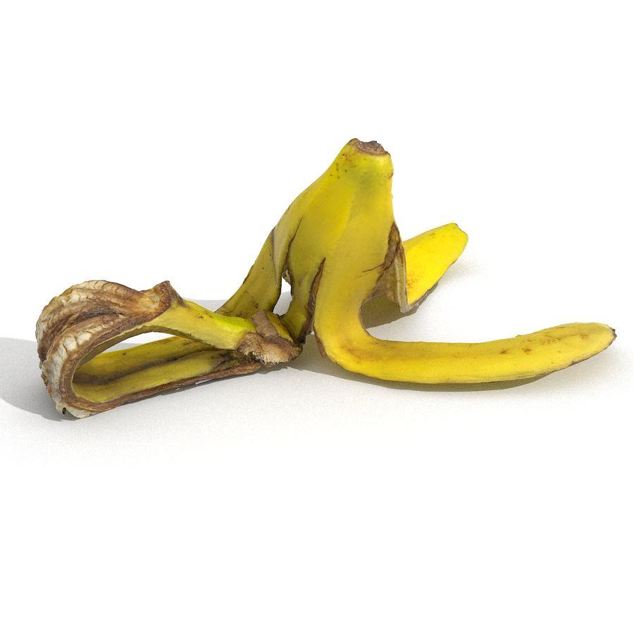 Banana Peel Realistic royalty-free 3d model - Preview no. 23