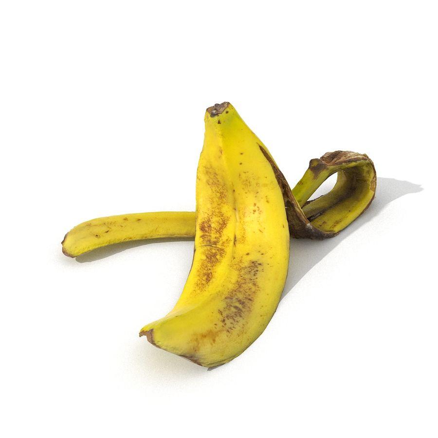 Banana Peel Realistic royalty-free 3d model - Preview no. 28
