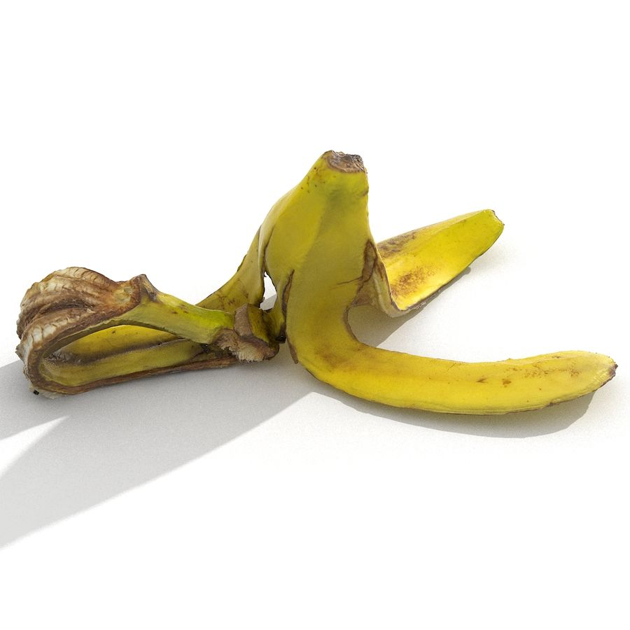 Banana Peel Realistic royalty-free 3d model - Preview no. 7