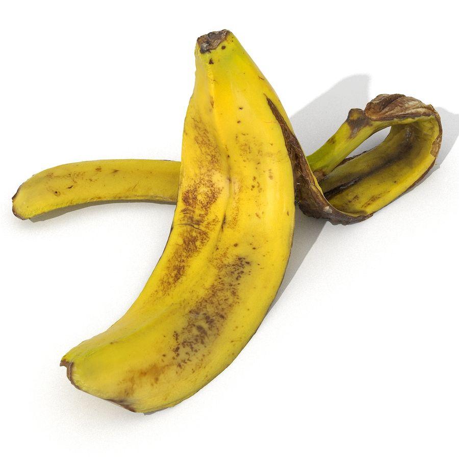Banana Peel Realistic royalty-free 3d model - Preview no. 51