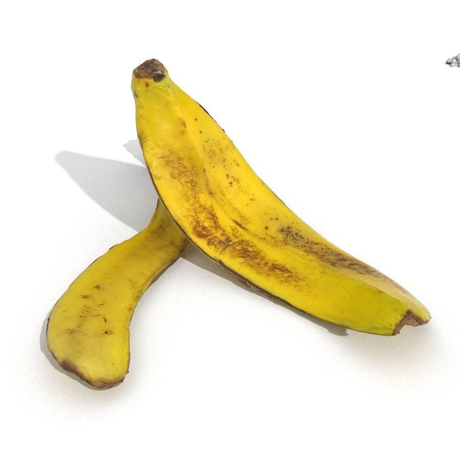 Banana Peel Realistic royalty-free 3d model - Preview no. 50
