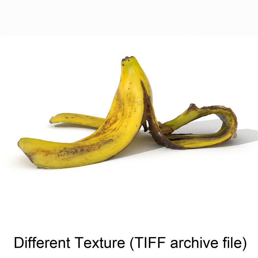 Banana Peel Realistic royalty-free 3d model - Preview no. 45