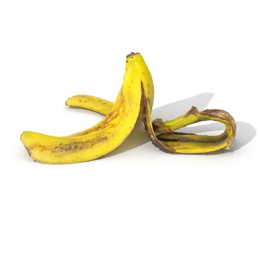 Banana Peel Realistic royalty-free 3d model - Preview no. 26