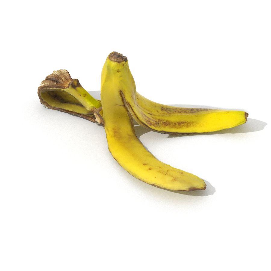 Banana Peel Realistic royalty-free 3d model - Preview no. 32