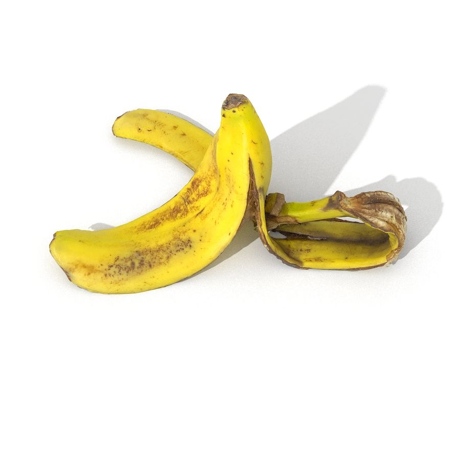 Banana Peel Realistic royalty-free 3d model - Preview no. 27