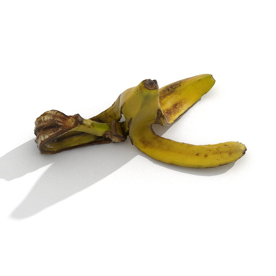 Banana Peel Realistic royalty-free 3d model - Preview no. 52
