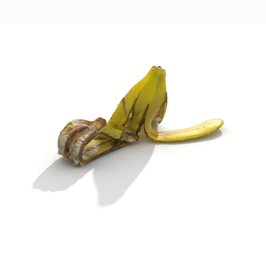 Banana Peel Realistic royalty-free 3d model - Preview no. 19