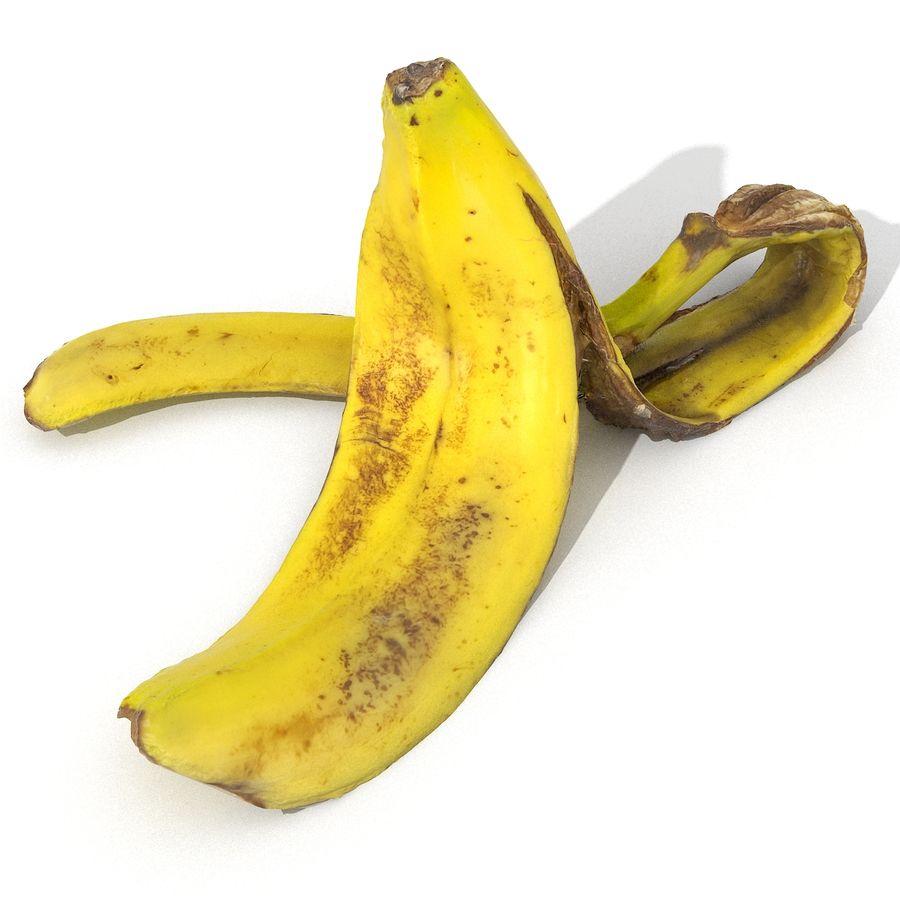 Banana Peel Realistic royalty-free 3d model - Preview no. 9