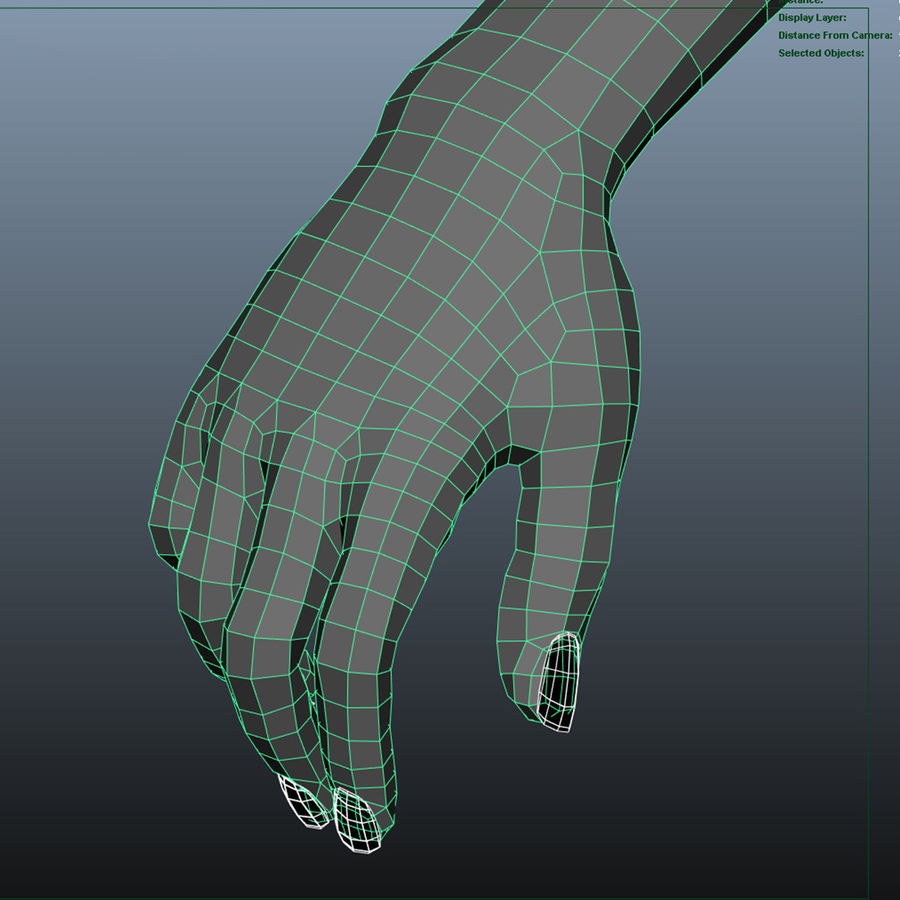 Ręce kobiety royalty-free 3d model - Preview no. 9