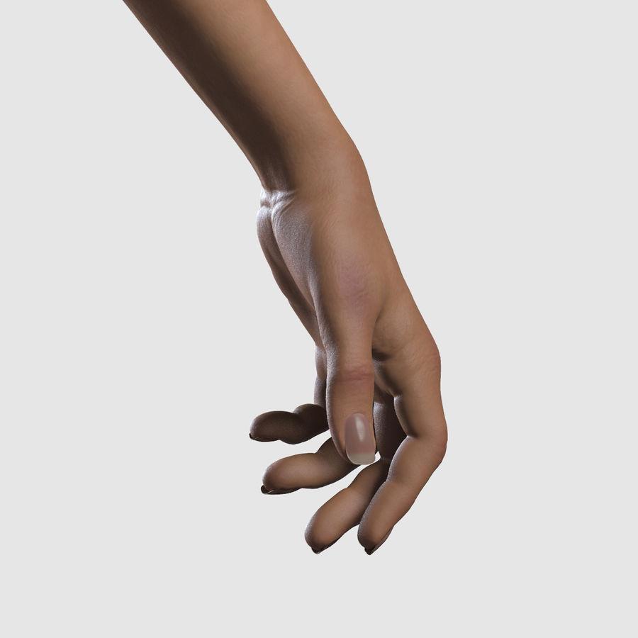Ręce kobiety royalty-free 3d model - Preview no. 7