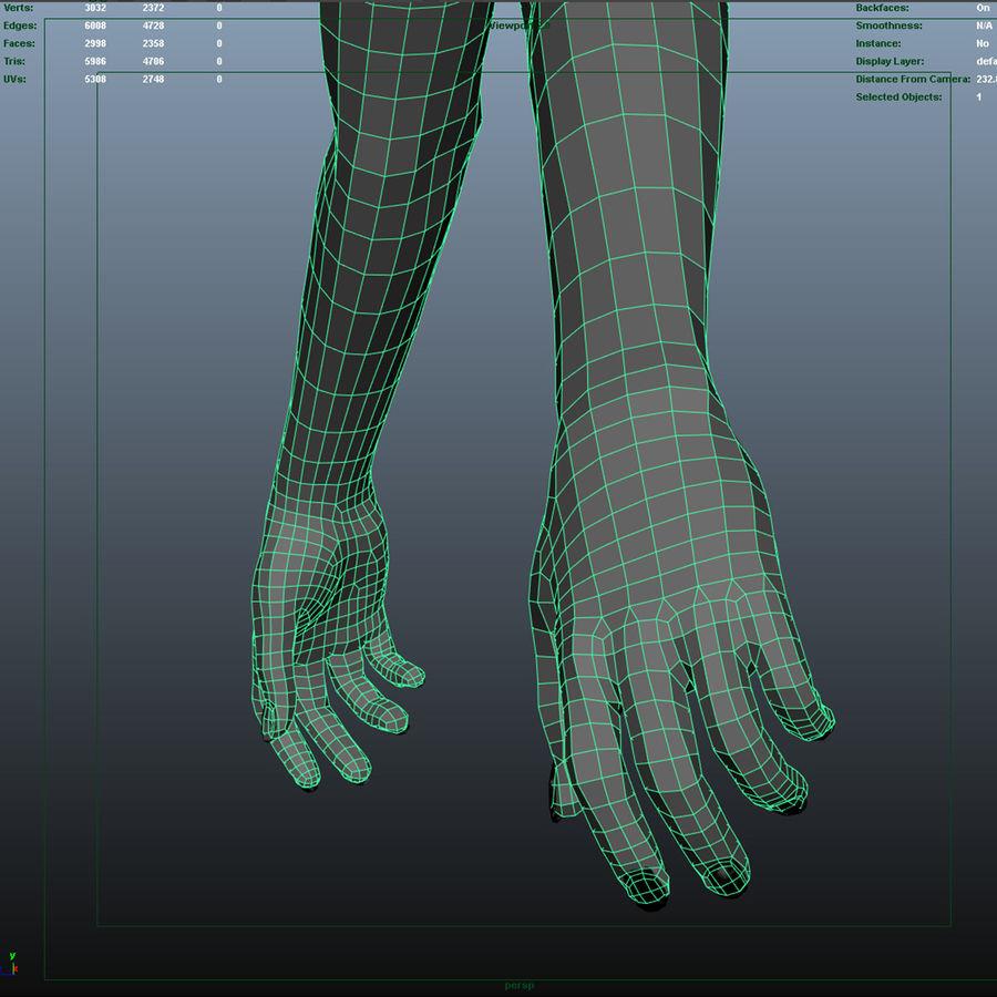 Ręce kobiety royalty-free 3d model - Preview no. 10