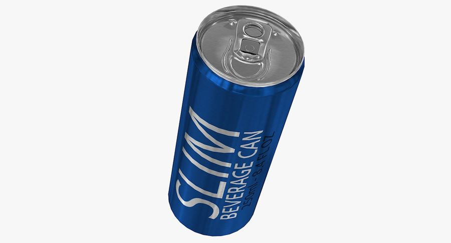 250ml 8.4oz Slim Beverage Can royalty-free 3d model - Preview no. 7