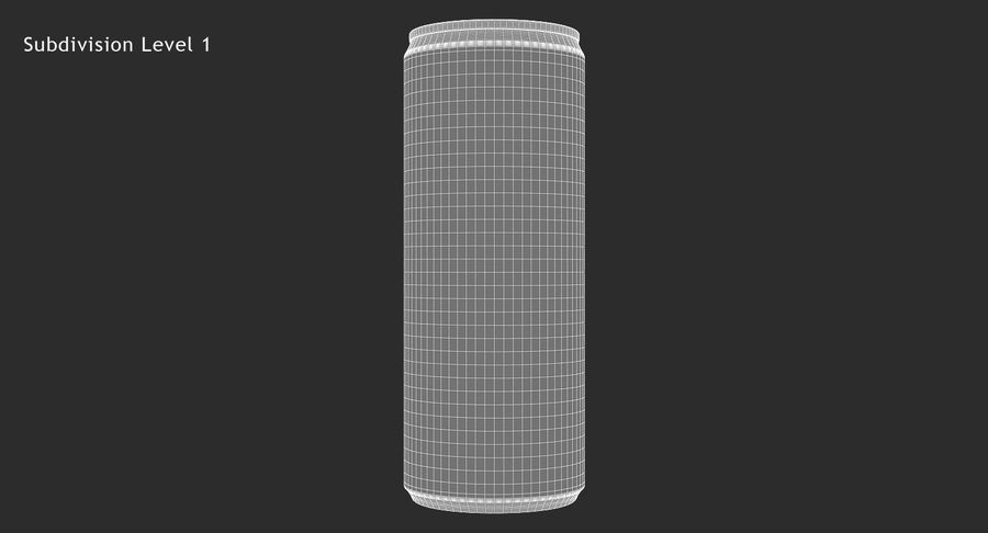 250ml 8.4oz Slim Beverage Can royalty-free 3d model - Preview no. 13