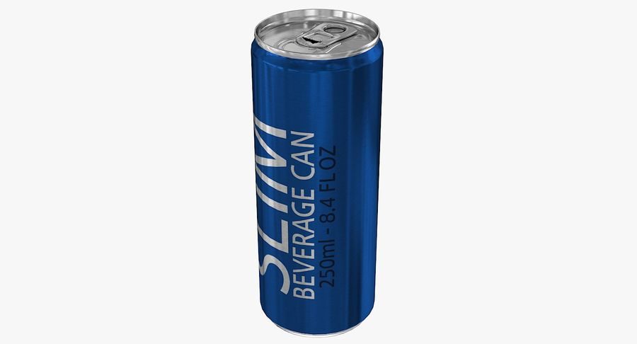 250ml 8.4oz Slim Beverage Can royalty-free 3d model - Preview no. 5